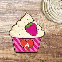 Grafika - Grafika na potlač jedlého papiera - ovocné koláčiky stracciatella (pásikavé košíčky) - 9060633_