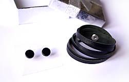 Sady šperkov - Kožený set - 9066408_