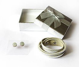 Sady šperkov - Kožený set - 9066567_