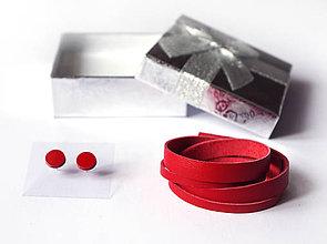 Sady šperkov - Kožený set - 9066612_