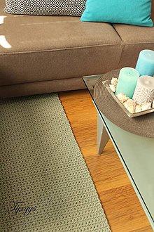 Úžitkový textil - Svetlosivý koberec. (50 cm x 100 cm) - 9064894_
