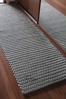 Úžitkový textil - Svetlosivý koberec. (44 cm x 140 cm) - 9064939_