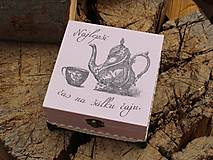 Krabičky - Krabička na čaj - 9065903_