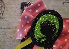 Odznaky/Brošne - Vlasy kvetmi vyšívané - 9067247_