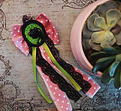 Odznaky/Brošne - Vlasy kvetmi vyšívané - 9067249_