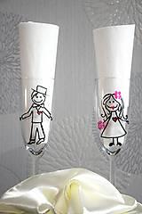 Nádoby - Svadobné poháre - 9067589_