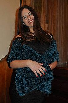 Šály - Petrolejová štóla na plesové šaty - 9065714_