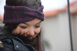 Ozdoby do vlasov - fialový melír čelenka - 9064335_