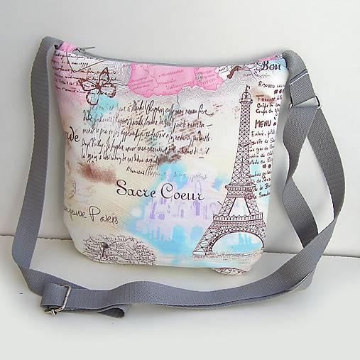 fa12113737 Sivá kabelka Paríž   zu - SAShE.sk - Handmade Kabelky