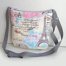 Kabelky - Sivá kabelka Paríž - 9066605_