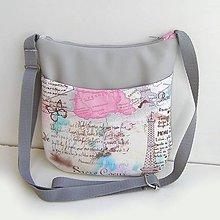 Kabelky - Výpredaj Sivá kabelka Paríž - 9067607_