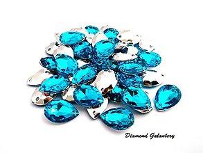 Galantéria - Ozdobné kamienky našívacie - Akvamarín - 9068521_