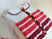 Detské oblečenie - Červený svetrík - 9065142_