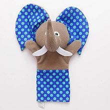 Hračky - Maňuška sloník - VÝPREDAJ (Modrá) - 9068481_