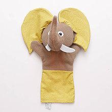 Hračky - Maňuška sloník - VÝPREDAJ (Žltá) - 9068487_