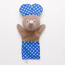 Hračky - Maňuška myška - VÝPREDAJ (Modrá) - 9068512_