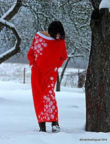 Šaty - Dámske šaty maxi, šité, maľované, oversize CHILL  OUT - 9064591_