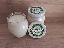 Svietidlá a sviečky - Sviečka zo 100% sójového vosku v skle - Kokos - Vanilka (-20%) - 9066672_
