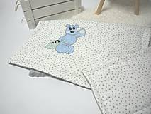 Textil - Detská MINKY deka s našitým menom - 9064238_