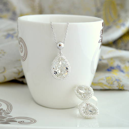 Sady šperkov - Simply Elegant Sada (prsteň,prívesok, retiazka - Ag925/1000) - 9065044_