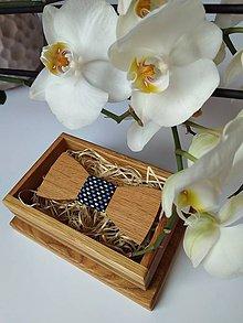 Doplnky - Pánsky drevený motýlik - 9064315_