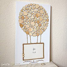 Papiernictvo - Srdiečkový balón - Kniha hostí (rozmer 30x50) - 9067307_