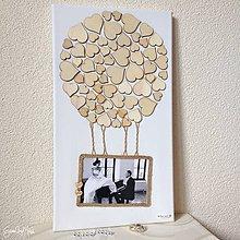 Papiernictvo - Srdiečkový balón - Kniha hostí (rozmer 25x45) - 9067337_