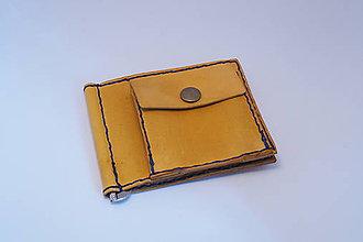Peňaženky - Pánská kožená peňaženka DOLAROVKA -žlutá - 9066082_