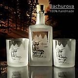 Nádoby - DARČEKOVÝ SET Fľaša a dva poháre na whisky - 9064435_