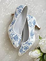 Obuv - Rozkvitli v modrom topánky - 9065112_