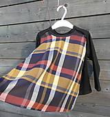 Detské oblečenie - Tričko pre superhrdinu - káro - 9064115_