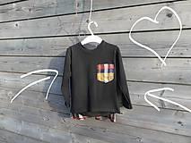 Detské oblečenie - Tričko pre superhrdinu - káro - 9064116_