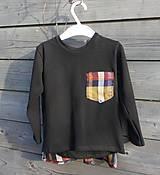 Detské oblečenie - Tričko pre superhrdinu - káro - 9064117_
