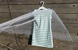 Detské oblečenie - Šaty s vlečkou - mint - 9064140_