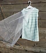 Detské oblečenie - Šaty s vlečkou - mint - 9064142_