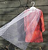 Detské oblečenie - Šaty s vlečkou - červené, dlhý rukáv - 9064157_