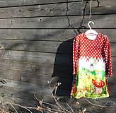 Detské oblečenie - Šaty s vlečkou - červené, dlhý rukáv - 9064158_
