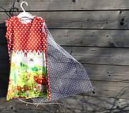 Detské oblečenie - Šaty s vlečkou, červené - bez rukávov - 9064164_