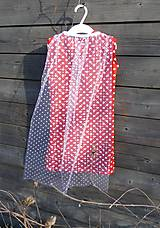 Detské oblečenie - Šaty s vlečkou, červené - bez rukávov - 9064165_