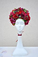 - Vínovo-červená kvetinová parta - 9067633_