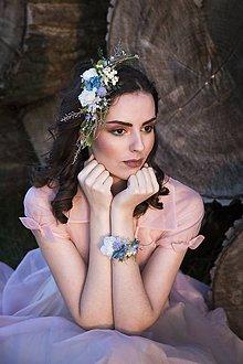 """Náramky - Kvetinový náramok """"nebo belasé"""" - 9064946_"""