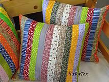Úžitkový textil - Vankúše prúžky - 9068216_