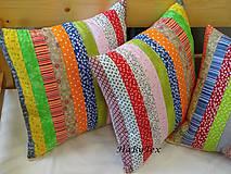 Úžitkový textil - Vankúše prúžky - 9068217_