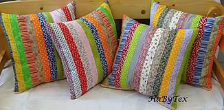 Úžitkový textil - Vankúše prúžky - 9068219_