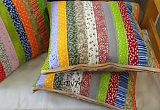 Úžitkový textil - Vankúše prúžky - 9068224_