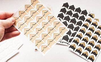 Papier - Foto-rohy samolepiace (Recy/ natur hnedá farba) - 9065942_