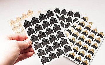 Papier - Foto-rohy samolepiace (Čierna farba) - 9065944_