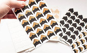 Papier - Foto-rohy samolepiace (Čierno-zlatá farba) - 9065949_