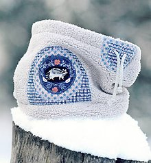 Detské doplnky - Sněží na veverku šedý - klulčičí - 9065801_