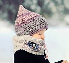 Detské čiapky - Skřítek ze zimního vřesoviště - 9066009_